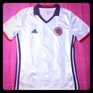 Youth Size Authentic Colombia Jersey -White